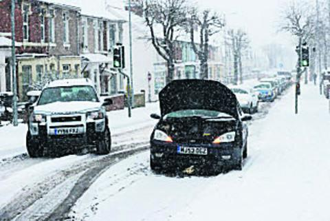 This Is Wiltshire: Drivers had to cope with broken down vehicles in Groundwell Road