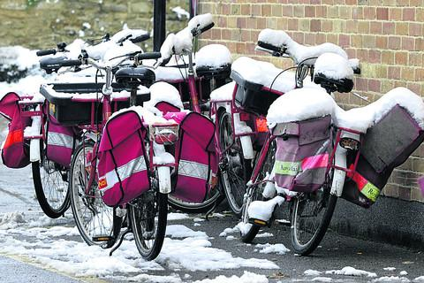 This Is Wiltshire: It's not biking weather for Melksham's postal staff
