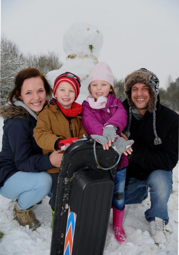 Families make most of a winter wonderland as snow hits Swindon