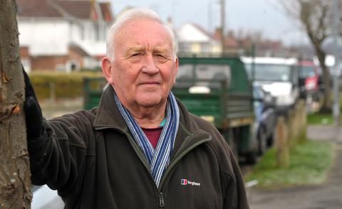 Resident Mike Townsend has seen an increase in cars parking in the Old Walcot area