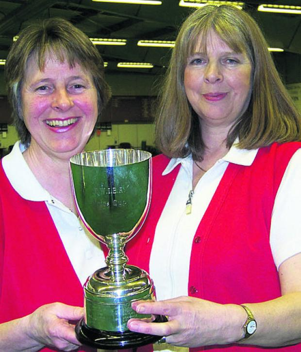 This Is Wiltshire: Sue Cooke (left) and Alex Jacobs after their national pairs win in 2010