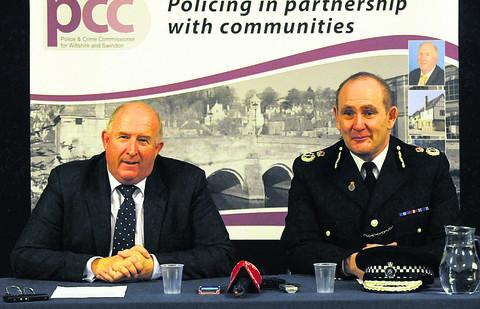 Wiltshire Police and Crime Commissioner Angus McPherson and Chief Constable Pat Geenty