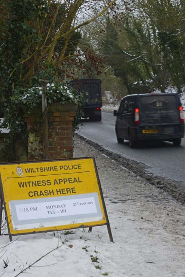 This Is Wiltshire: The scene of the fatal accident