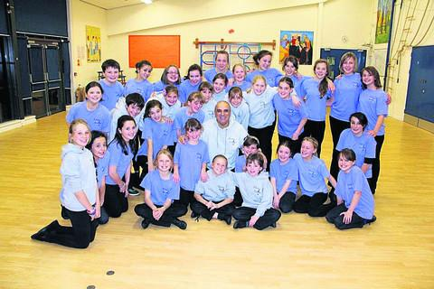 This Is Wiltshire: Children from First Stages with patron Peter Polycarpou