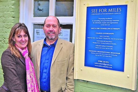This Is Wiltshire: Geoff Miles, principal psychologist, and Helen Payne, business director at See for Miles