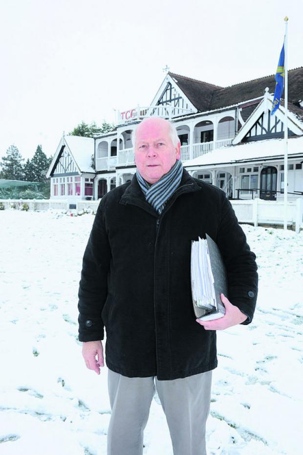 This Is Wiltshire: Colin Poplett, vice president of Trowbridge Cricket Club