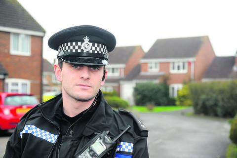 PC Tom Turner is one of the Wiltshire police officers who have been trying to ensure county people properly secure their vehicles and properties, so they do not leave themselves prone to becoming the victims of opportunistic burglars and car criminals