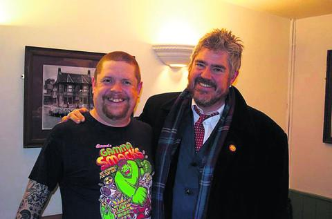 This Is Wiltshire: Wil Hodgson, organiser and compere of the night, with Phill Jupitus