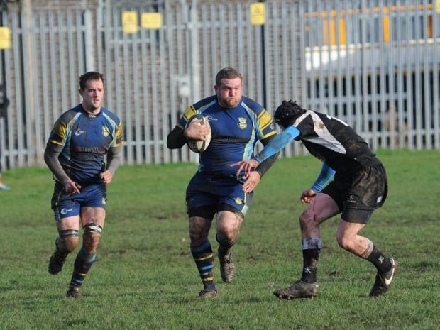 This Is Wiltshire: Action from Wootton Bassett's clash with Trowbridge