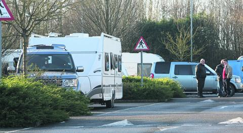 This Is Wiltshire: Travellers at the Wroughton Park and Ride site