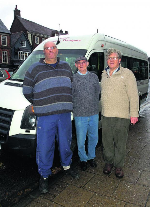 This Is Wiltshire: Driver Rolly Lockey, escort Peter Swanborough and Alexander Kirk-Wilson