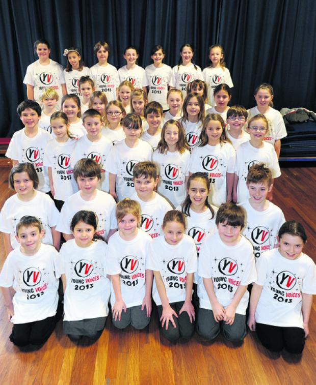 This Is Wiltshire: The Cherhill School choir who sang at the O2 Arena in London