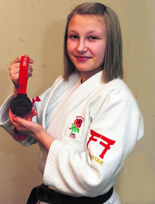 This Is Wiltshire: Charlotte Emery with her British Championship bronze medal