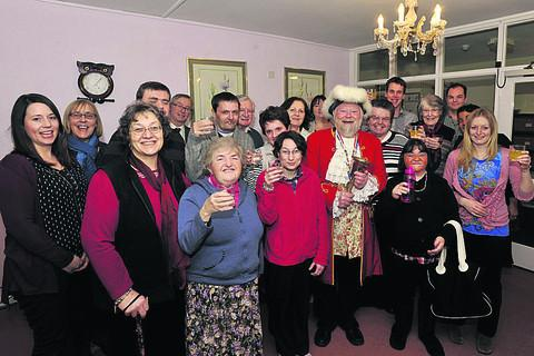This Is Wiltshire: The OLPA charity celebrates its 10 years in Trowbridge, with a party for current and former residents, helped along by town crier Trevor Heeks