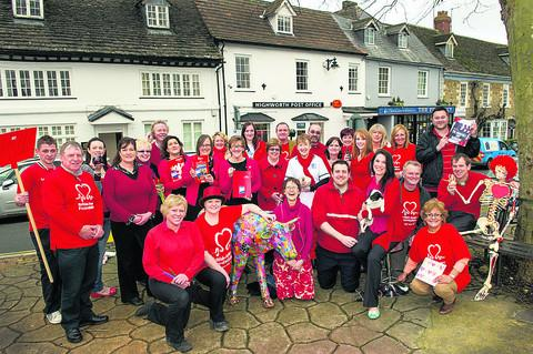 This Is Wiltshire: Highworth businesses will be 'Rocking Up In Red' to work PICTURE: Professional Images