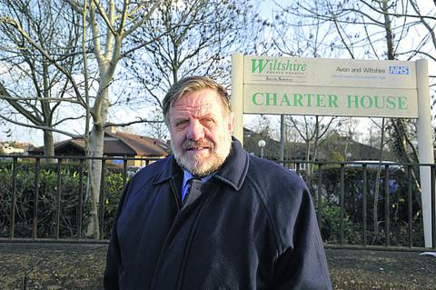 This Is Wiltshire: Cllr Graham Payne outside Charter House