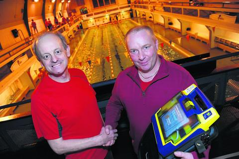 This Is Wiltshire: Jim Burnett, left, is reunited with quick-thinking Steve Brain