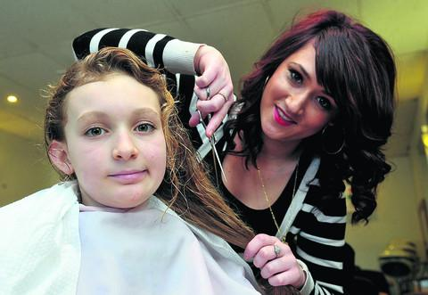 This Is Wiltshire: Kerry having her hair cut