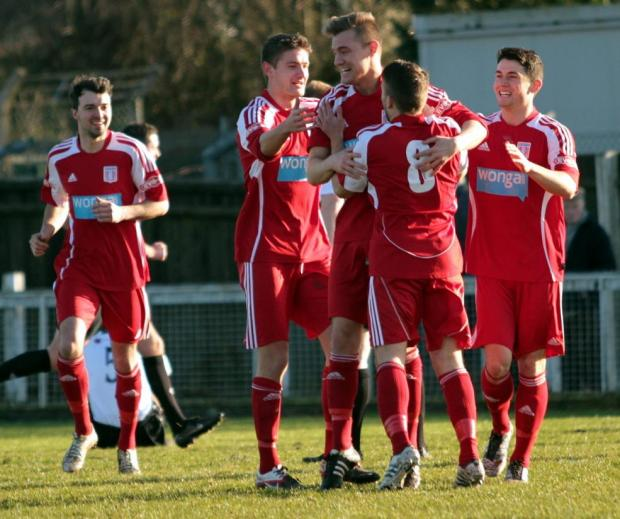 This Is Wiltshire: WINNER: Jamie Proctor celebrates his goal