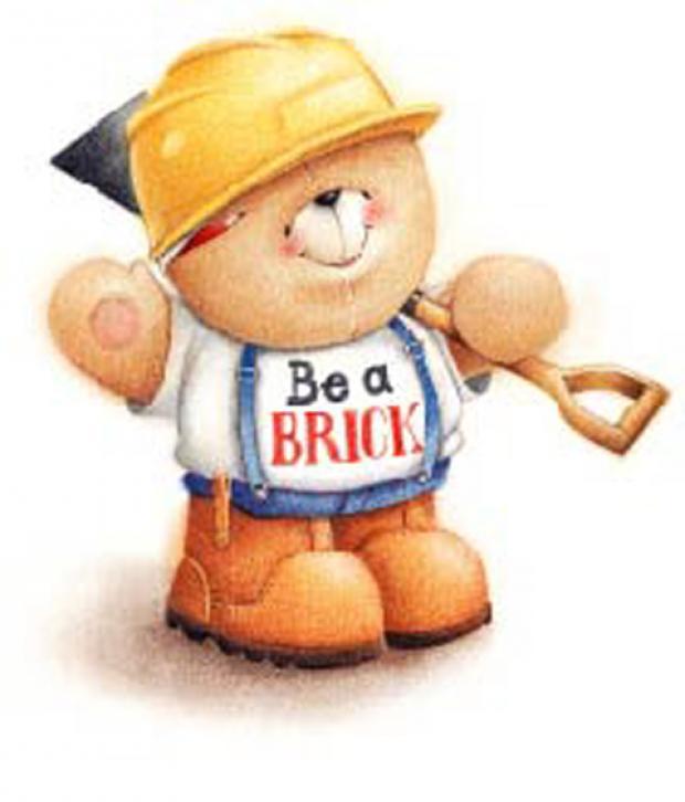 This Is Wiltshire: Big Ted in his Buy a Brick builder's gear