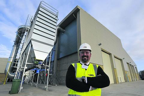 This Is Wiltshire: Plant manager Simon Thomas at the newly completed waste treatment centre