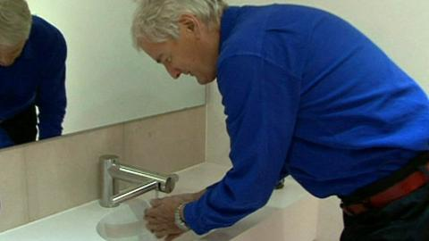 This Is Wiltshire: Sir James Dyson tries out the new invention