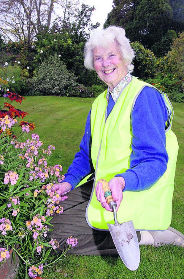This Is Wiltshire: June Turnbull in her high viz jacket