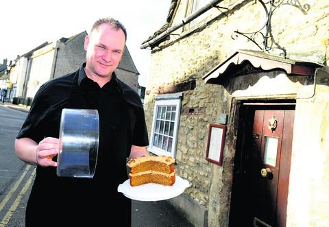 This Is Wiltshire: Dave Jarvis, from the Dutch Cottage, which was raided by a cake-eating thief