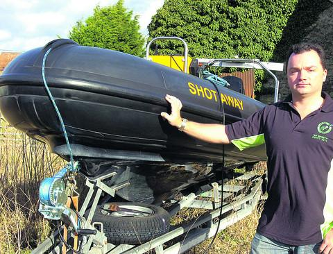 This Is Wiltshire: John Dodsworth of the Calne Diving Club is seeking a new home for their inflatable motor boat