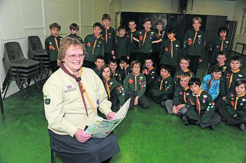 Sally Tanner is stepping down as Bradford on Avon's cub leader after 22 years of service, with her last pack.                                   Photo: Trevor Porter (41611)