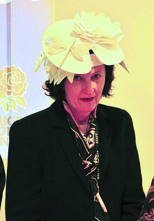 This Is Wiltshire: Wiltshire College principal Di Dale in her hat