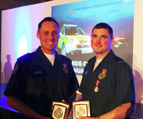 This Is Wiltshire: Clinical Team Leader Richard Miller (left) Paramedic Ross Culligan (right)