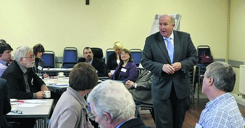 Angus Macpherson consults with Trowbridge community groups today