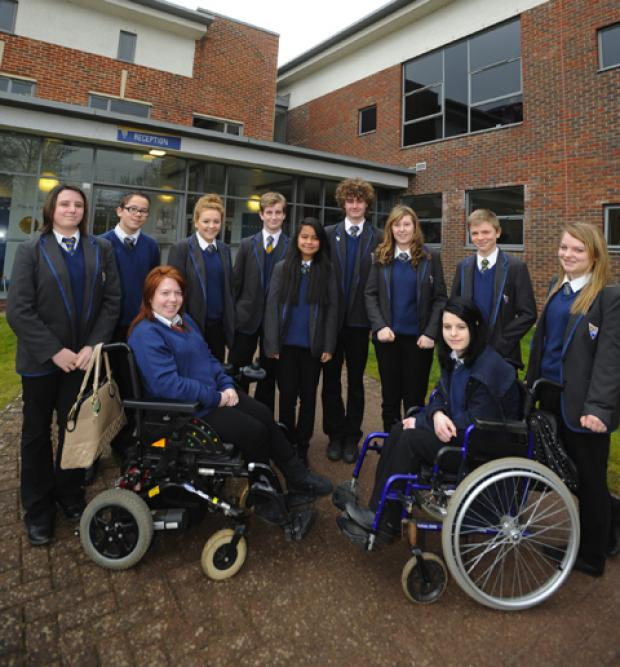 This Is Wiltshire: Students from John Bentley School Boccia Team who came tenth in the Boccia Championships