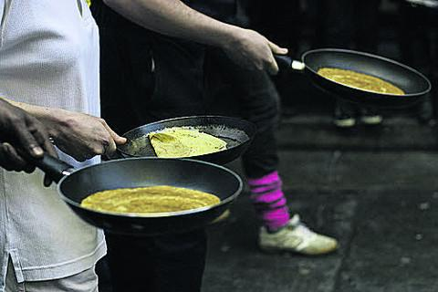 This Is Wiltshire: Trowbridge's pancake races will be held next Tuesday