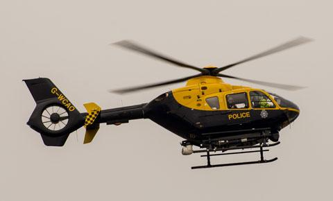 Police helicopter employed in gun false alarm