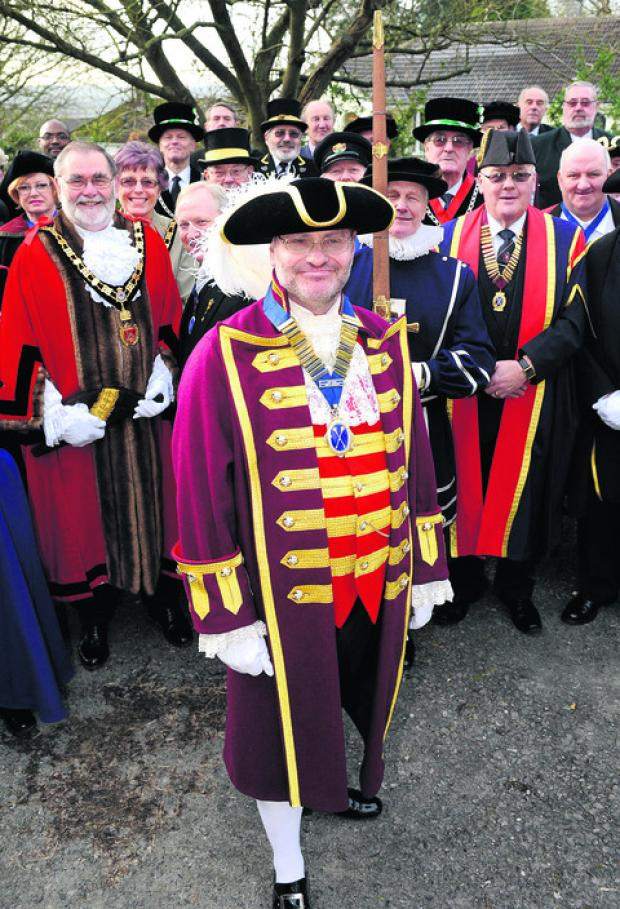 This Is Wiltshire: Royal Wootton Bassett town crier Owen Collier is made prime warden of the Guild of M
