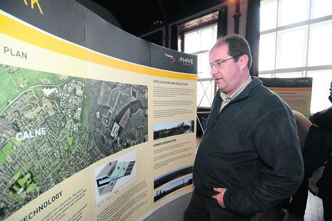 This Is Wiltshire: Calne resident Paul Stallard studies the plans