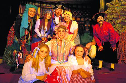 Members of the cast of Potterne's new pantomime, Once Upon a Time, tickets for which have sold out