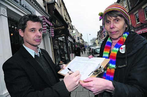 This Is Wiltshire: Neil and Shirley Burnham with the petition