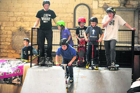 This Is Wiltshire: Skaters await their turn