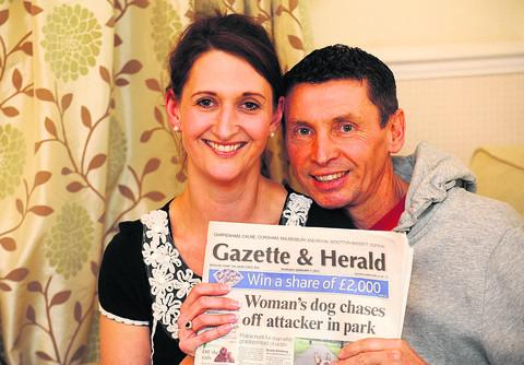 Clare Morris and Robert Dyer were married in Chippenham on Valentine's Day