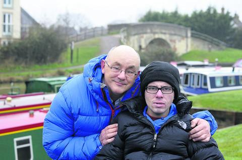 This Is Wiltshire: Andy Cudlip with his son Ben, 22, who suffers from Niemann-Pick disease
