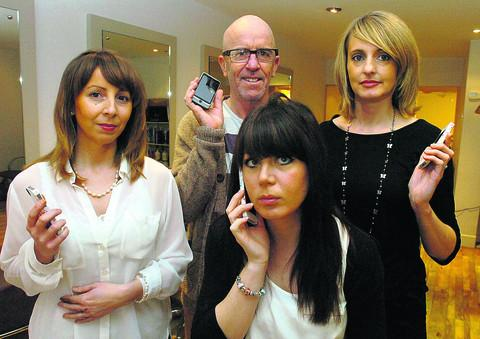 This Is Wiltshire: Candi Mildenhall, Steve Ennis, Loretta Hunt and Kim Roff at The Hair Company
