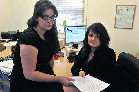 This Is Wiltshire: Amanda Wilkes, left, and Eva Ashmore of HELP