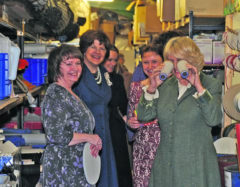 This Is Wiltshire: The Duchess has fun with some of the stock