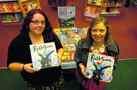 This Is Wiltshire: Jo Empson, right, with Jenny Wells, of Waterstone's Children's Books
