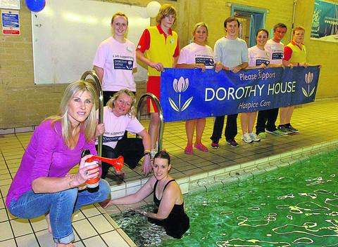 This Is Wiltshire: Sharron Davies and Kerena Angell, front left, at last year's memorial fundraiser