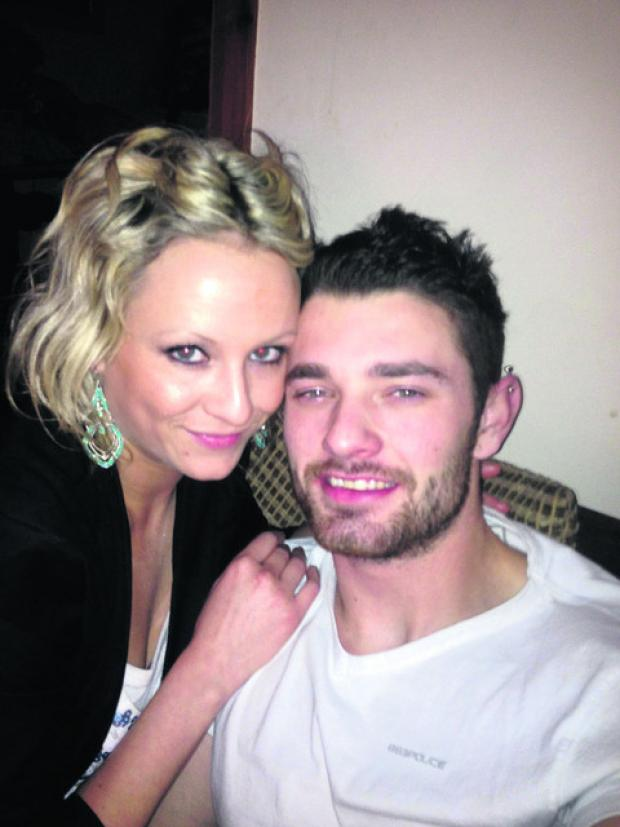 This Is Wiltshire: Ben Bowen, who was killed in a motorcycle accident last week near his home in Haverfordwest, pictured with girlfriend Lisa Canton