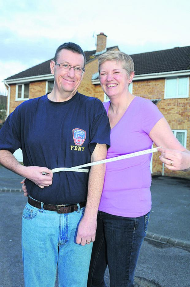 This Is Wiltshire: Dave and Ali Bartlett measure their slimming success